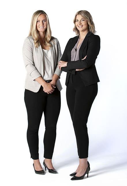 Katie Olson (left) and Alyssa Cloutier